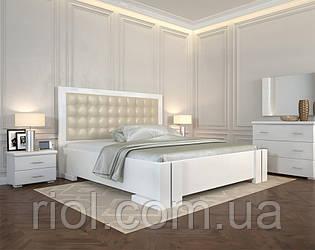 Ліжко дерев'яне двоспальне Амбер