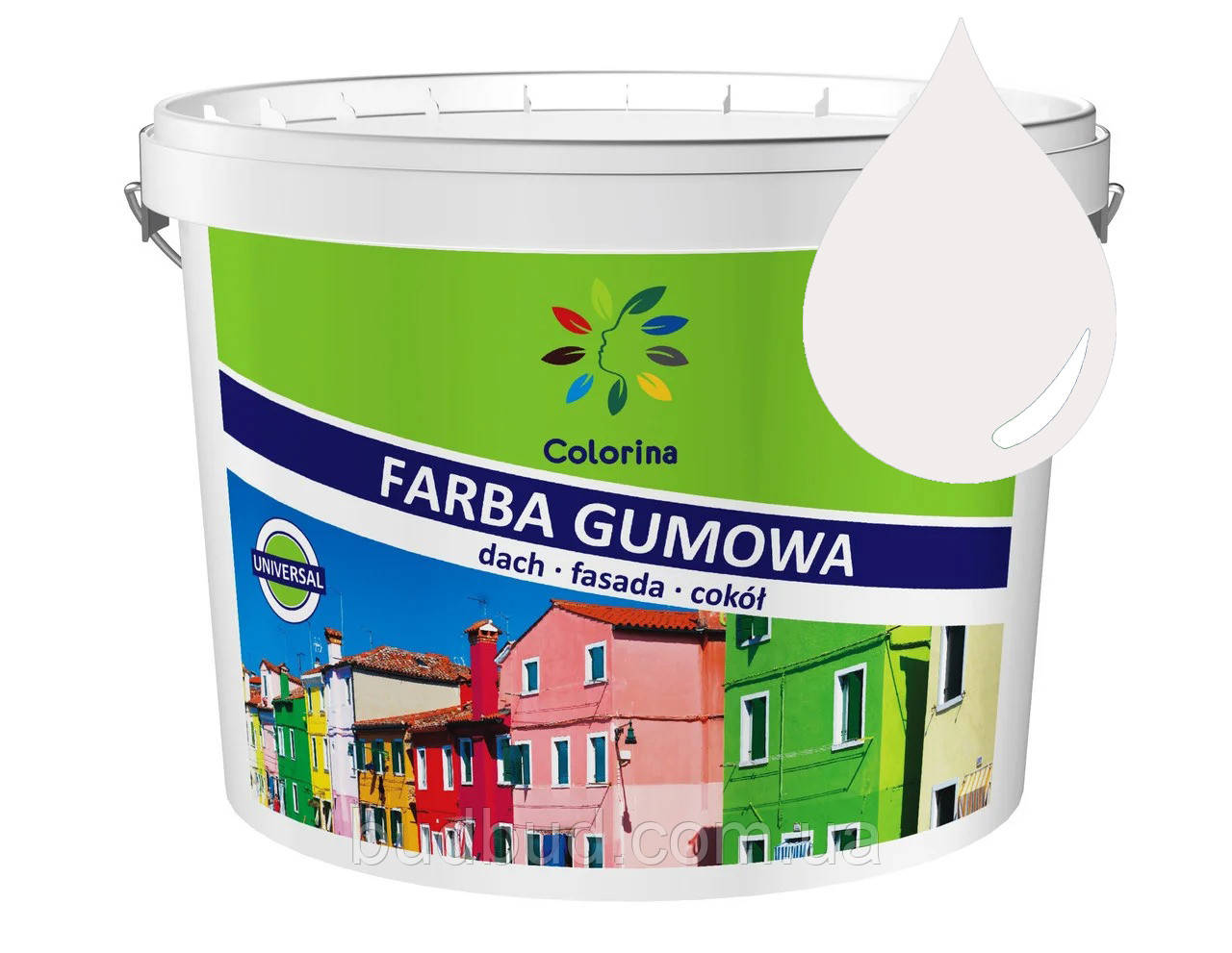 Краска резиновая белая COLORINA 1,2 кг