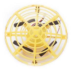 Дрон ручної літаючий безпілотник для початківців із запобіганням перешкод для дітей Airset жовтий 154444
