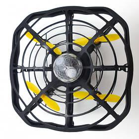 Дрон ручної літаючий безпілотник для початківців із запобіганням перешкод для дітей Airset чорний 182974