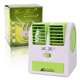 Міні кондиціонер Air Conditioning Cooler Usb Mini Electric Fan зелений 149873