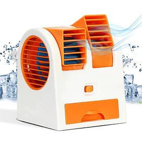 Міні кондиціонер Air Conditioning Cooler Usb Mini Electric Fan Помаранчевий 184516