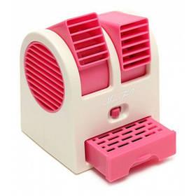 Міні кондиціонер Air Conditioning Cooler Usb Mini Electric Fan Рожевий 184512