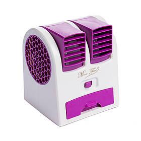 Міні кондиціонер Air Conditioning Cooler Usb Mini Electric Fan Фіолетовий 184739