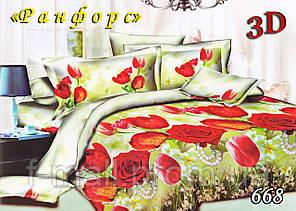 Двуспальное постельное белье Тет-А-Тет (Украина)  ранфорс (668)