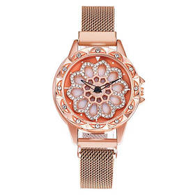 Женские часы наручные Rotation Watch Розовые 182443