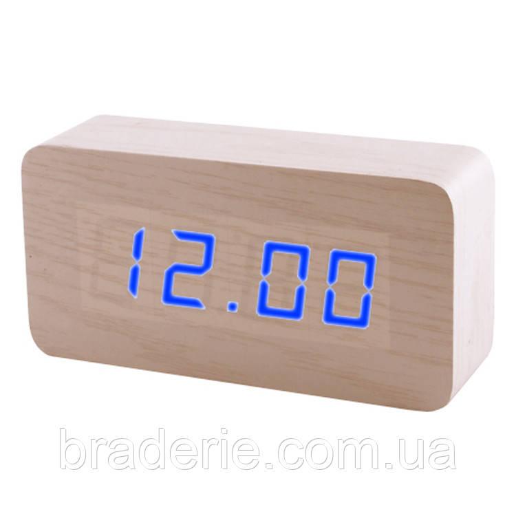 Часы электронные сетевые USB VST 867-5 Синее свечение