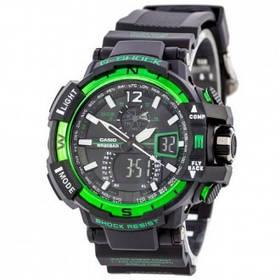 Мужские наручные часы Черно-Зеленые 182379