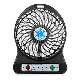 Портативный настольный вентилятор Portable Fan Mini со съемным аккумулятором черный 150002