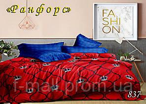Двуспальное постельное белье Тет-А-Тет (Украина)  ранфорс (837)