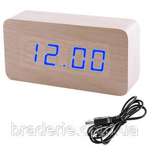 Часы электронные сетевые USB VST 867-5 Синее свечение, фото 2