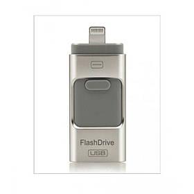 Флешка для Iphone 3в1 16GB флеш-накопичувач Usb FlashDrive для Android/iPad/iPhone 5/5S/5C/6/7/8/X чорний