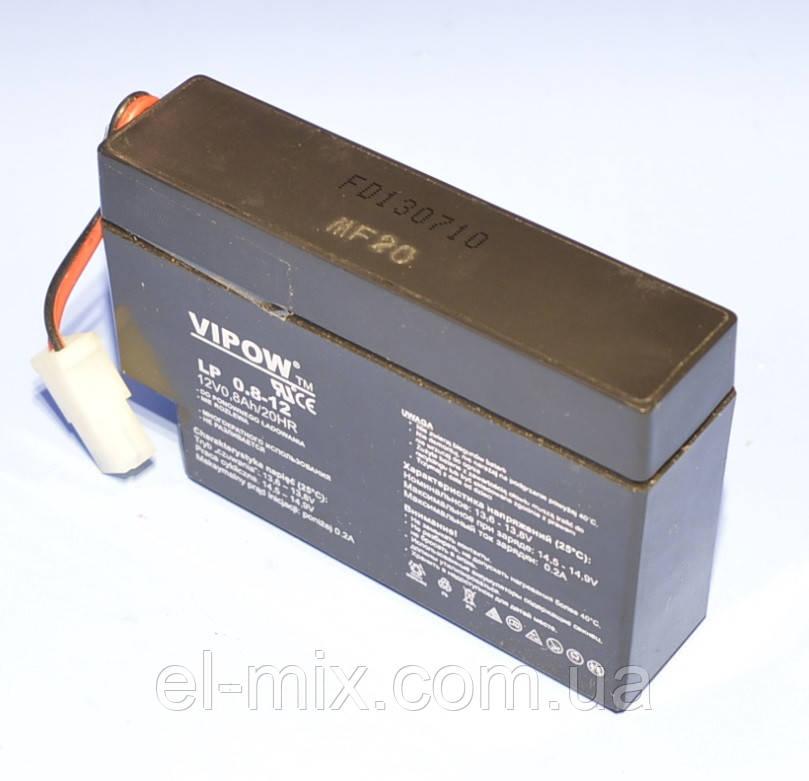 Аккумулятор гелевый Vipow 12V  0.8Ah  BAT0221  07.2013