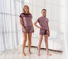 Костюмы пижамы  Family Look. Шорты и футболка.