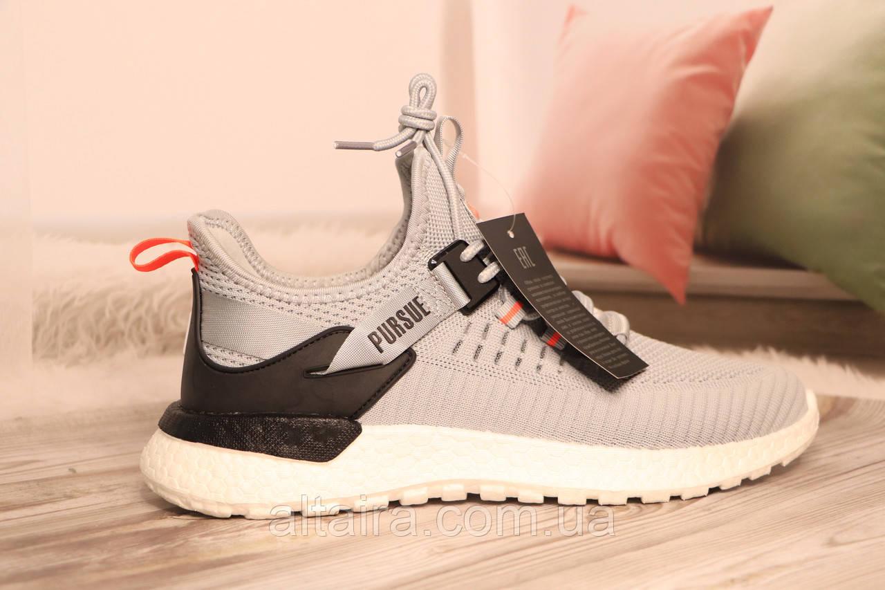 Чоловічі світло-сірі кросівки сітка BAAS 41-45