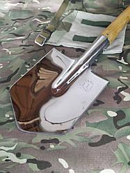 Лопата автомобильная нержавейка с чехлом
