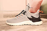 Чоловічі світло-сірі кросівки сітка BAAS 41-45, фото 5