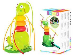 Яркая Надувная Фигура с Распрыскивателями Забавная Гусеница Фонтанчик для Игр на Воздухе