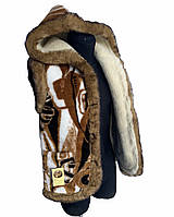 Жилетка з овчини, жилет з овечої вовни, безрукавка з овечої вовни, розмір 38-62