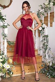 Розкішна атласна сукня для випускного балу Розміри S, M, L, XL