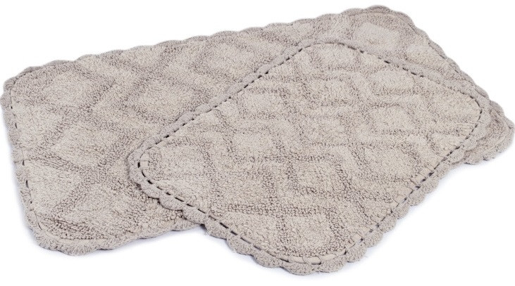 Набор ковриков Irya - Cora gri серый 50*80+35*55