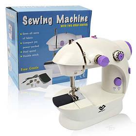 Швейна міні-машинка c педаллю 4в1 mini Sewing Machine 201 130342