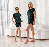 Домашні костюми для мам і дочок в стилі Family Look., фото 1