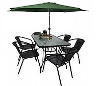Комплект садовой мебели Kontrast Garden Boston Black-6G