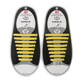 Шнурки силіконові Good-Bye Tie веселка жовті 150070
