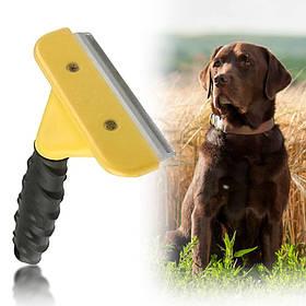 Щітка фурминатор для вичісування собак і кішок Large L Professional 10,16 см 130749