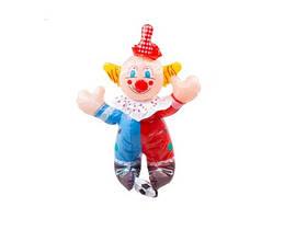 Большой Надувной Клоун С Футбольным Мячом Высота 46 См В Упаковке 12 Шт