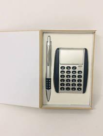 Подарочный Набор 2 В 1 Ручка И Калькулятор В Футляре Ручка С Калькулятором Набор