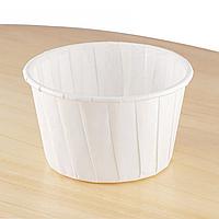 Бумажные формы для кексов «С бортиком» 50х40 мм, белые