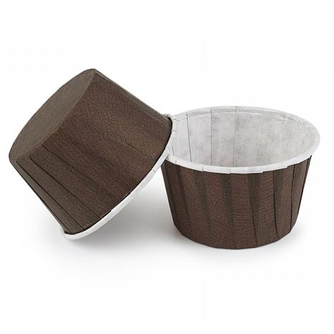 Паперові форми для капкейків «З бортиком» 50х40 мм, коричневі, фото 2