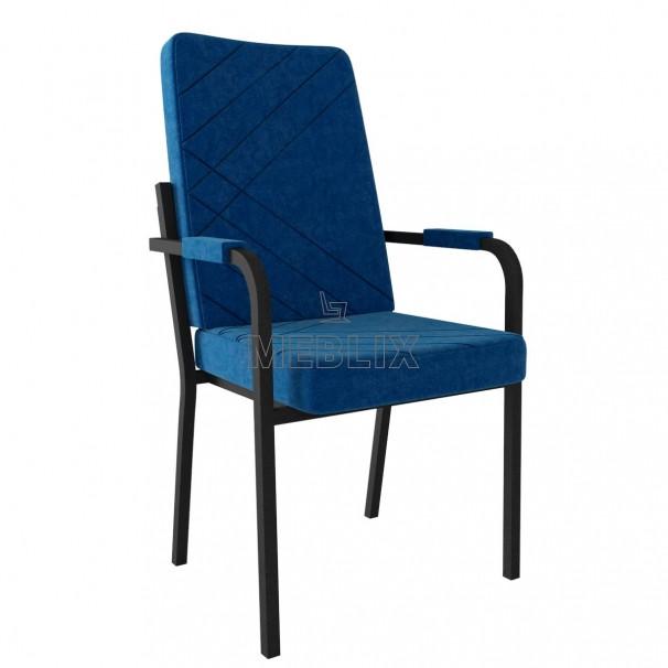 Мягкое стул-кресло для конференций и президиума БРИЗ с подлокотниками