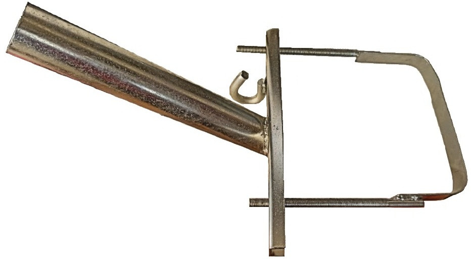 Кронштейн КР-5 Ф40мм довжина 350мм 45 градусів для квадратних опор