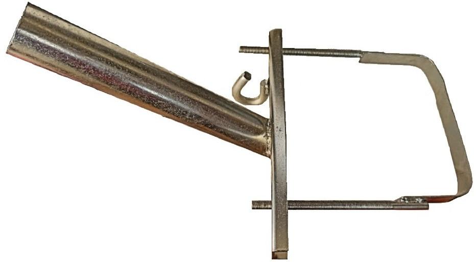 Кронштейн  КС-5 Ф40мм  длина 350мм 45 градусов для квадратных опор