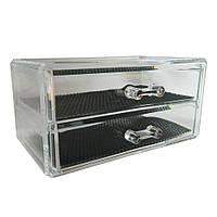 Органайзер с двумя выдвижными ящиками для украшений, фото 1
