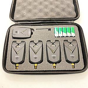 Набор сигнализаторов поклевки Feima FA213 4+1 (ночная подсветка + антивор )