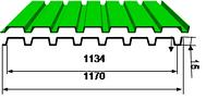 Профилированный лист оц, полиэстр 15 Ral (0,32-0,5)