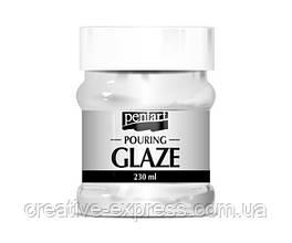 """Фінішний лак """"Pouring glaze"""", Прозорий, 230 мл, Pentart"""