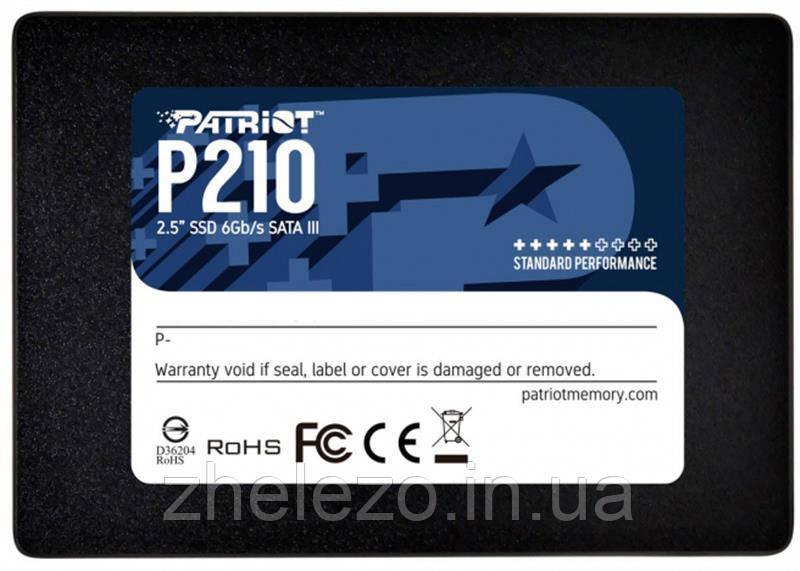 "Накопичувач SSD 256GB Patriot P210 2.5"" SATAIII TLC (P210S256G25)"