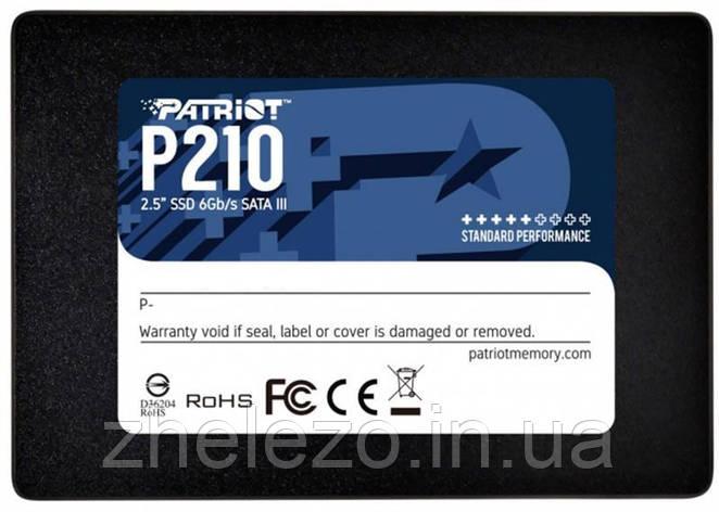"Накопичувач SSD 256GB Patriot P210 2.5"" SATAIII TLC (P210S256G25), фото 2"