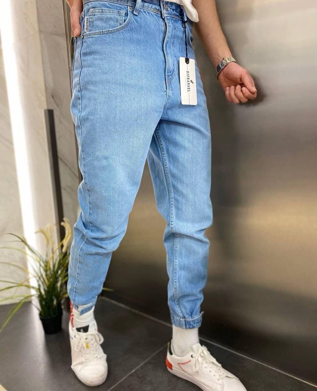 😝 Джинси - широкі Чоловічі Джинси / чоловічі джинси світлі з якісного котону