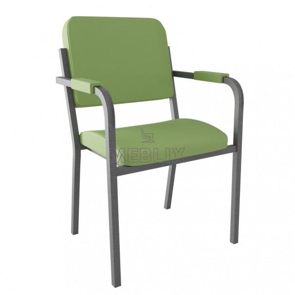 Стул-кресло для конференц-зала. Штабелируемые стулья с подлокотниками