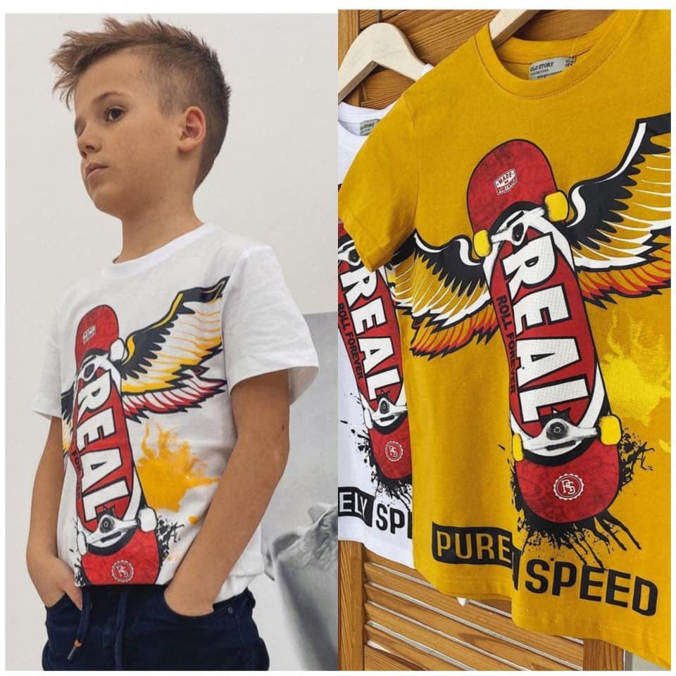 Стильные детские футболки для мальчика  Real  Glo-story). Венгрия.  134-146 размер.