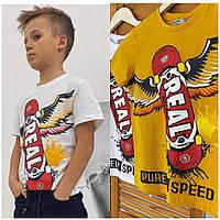 Стильные детские футболки для мальчика  Real  Glo-story). Венгрия.  134-146 размер., фото 1