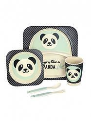 Набор бамбуковой посуды из 5 предметов Панда