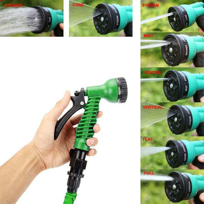 Гибкий садовый шланг растягивающийся-удлиняющийся для полива с распылителем X-HOSE - 75 м