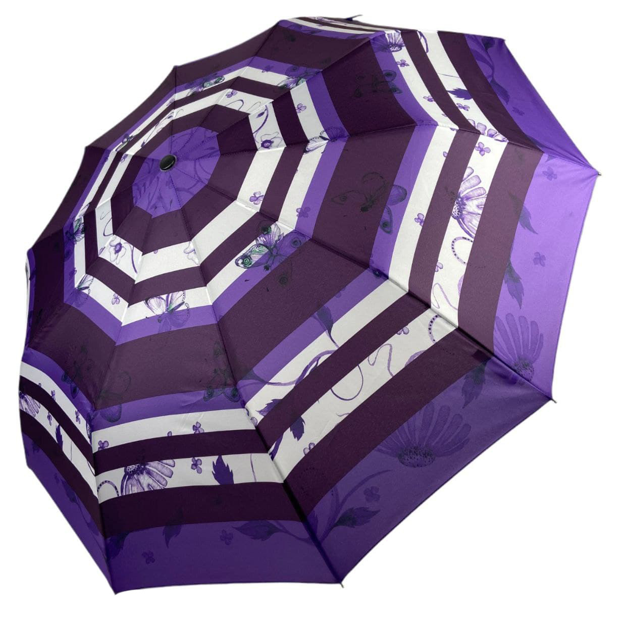 """Женский зонтик-полуавтомат """"Nature"""" на 10 спиц, от SL, фиолетовый, 477-4"""